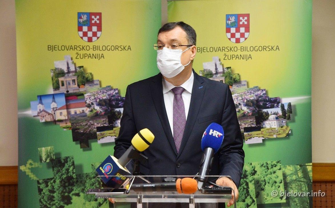 Župan Bajs: Ono što nas zabrinjava je nagli rast broja zaraženih iz dana u dan