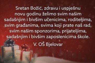 Božićna čestitka učenika i djelatnika Pete osnovne škole Bjelovar: 'Sretan Božić svakome'