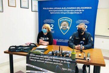 """PU bjelovarsko-bilogorska: Predstavljena modernizirana kampanja """"Manje oružja, manje tragedija"""""""
