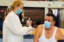 BJELOVAR – U Dvorani europskih prvaka organiziran punkt za cijepljenje za starije osobe i kronične bolesnike
