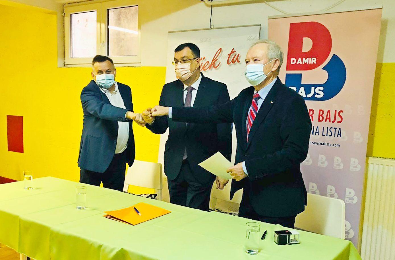 Damir Bajs Nezavisna lista i HSU potpisali koalicijski sporazum za predstojeće lokalne izbore