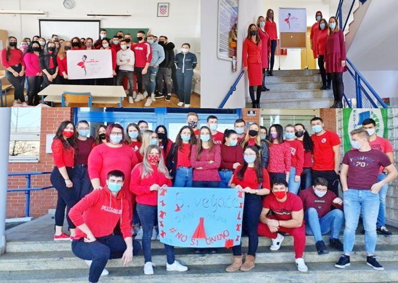 Medicinska škola Bjelovar obilježila DAN CRVENIH HALJINA: Kampanja o podizanju svijesti o moždanom udaru kod žena