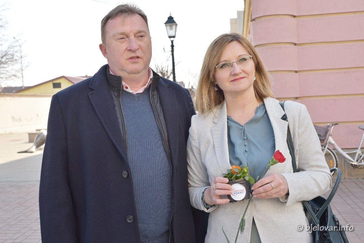 Domovinski pokret - Kandidat za gradonačelnika i kandidatkinja za županicu čestitali Dan žena