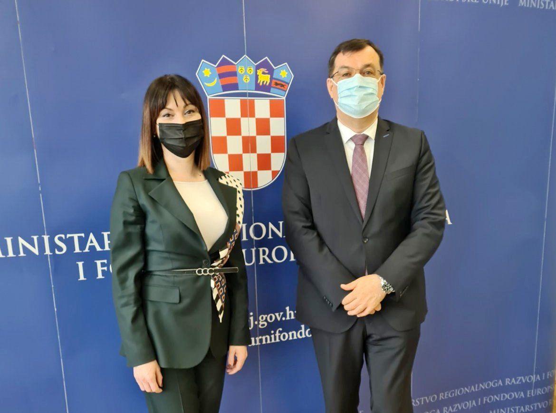 Župan Bajs i ministrica Tramišak o projektima Bjelovarsko-bilogorske županije
