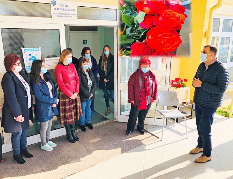 Župan Damir Bajs čestitao Dan žena zaposlenicama Doma zdravlja i Zavoda za hitnu medicinu