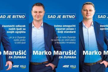 Postavljeni prvi plakati Marka Marušića, kandidata HDZ-a i HSLS-a za župana Bjelovarsko -bilogorske županije