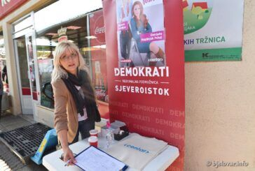 Kandidati na bjelovarskoj tržnici skupljali potpise podrške za lokalne izbore