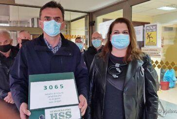 Liste kandidata i potpise birača predao i Demokratski HSS - Kandidati za župana i zamjenicu Ivan Beljan i Valna Bastijančić Erjavec