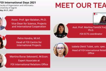 U tijeku su Dani međunarodne suradnje na FOI-ju (FOI International Days 2021)