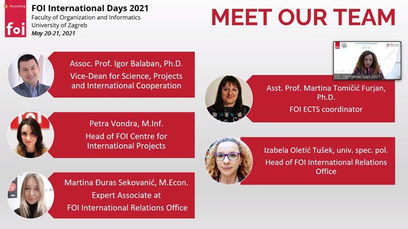 Dani međunarodne suradnje na Fakultetu organizacije i informatike u Varaždinu