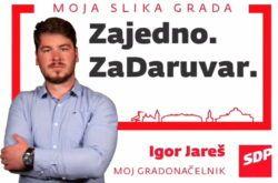 SDP-ov kandidat za gradonačelnika Daruvara Igor Jareš komentirao sučeljavanje koje organizira član HDZ-a
