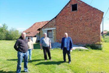 Zamjenik župana Neven Alić posjetio obitelj hrvatskog branitelja Mladena Tepšića čija je kuća stradala u potresu