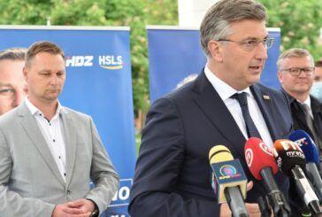 Plenković u Bjelovaru dao punu podršku kandidatu za župana Marku Marušiću u drugom krugu izbora