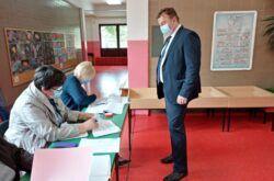 Kandidat Domovinskog pokreta za gradonačelnika Dražen Medved obavio svoju građansku i glasačku dužnost
