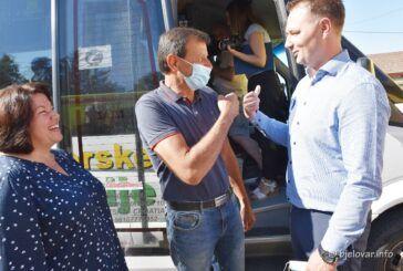 Počelo cijepljenje protiv koronavirusa u COVID autobusu 'Cjepko' na području Bjelovarsko-bilogorske županije