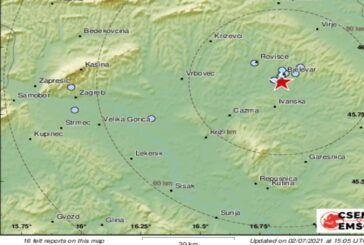 Potres jačine 2.3 s epicentrom kod Bjelovara – Jeste osjetili potres?