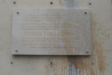 Ponovno vandalizam i na spomen ploči Gustavu Perl-Bendi u Bjelovaru