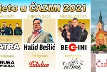 Sutra počinju Dani Grada Čazme – Vatra, Halid Bešlić, Begini
