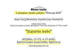 DOĐITE na šesto 'Čitanje NJE' projekta '6 glumica traži autora' u Bjelovaru