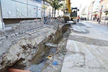 Napreduju radovi na kanalizaciji i vodovodu u Bjelovaru – Korzo će zabljesnuti u punom sjaju tek na proljeće